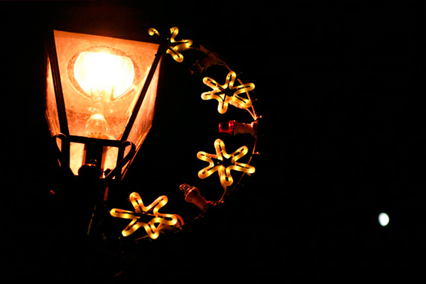 Christmas Lights on Lampost